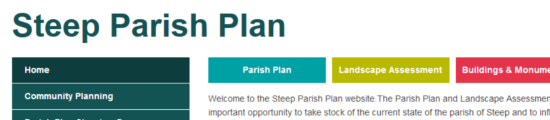 Steep Parish‐Plan – Website design